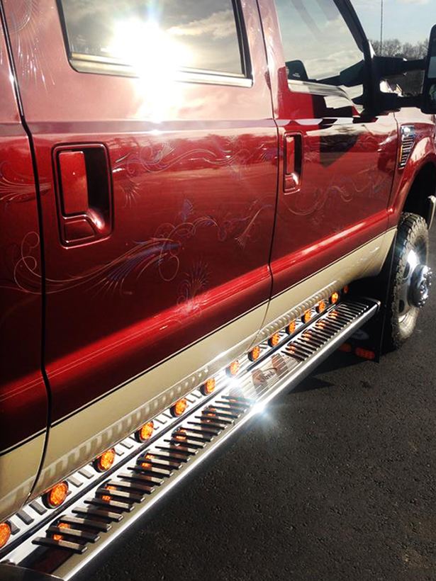 Side striping and running board lighting